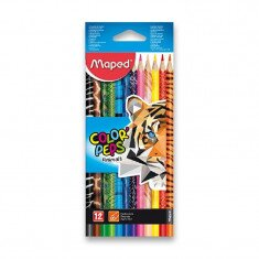 Pastelky 12 ks MAPED COLOR'PEPS ANIMALS